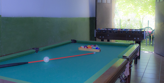 Billiards and table football
